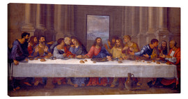 Canvas print  The Last Supper, after Leonardo da Vinci - Nicolas Poussin