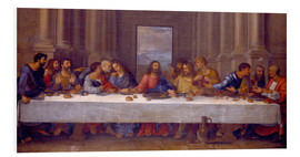 Foam board print  The Last Supper. Copy after Leonardo da Vinci. - Nicolas Poussin