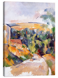 Canvas print  Bend in the road - Paul Cézanne