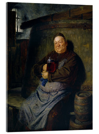 Acrylic print  Brother master brewer of beer in the cellar. In 1902. - Eduard Grützner