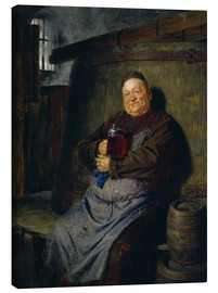 Canvas print  Brother master brewer of beer in the cellar. In 1902. - Eduard Grützner