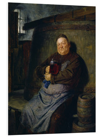 Foam board print  Brother master brewer of beer in the cellar. In 1902. - Eduard Grützner