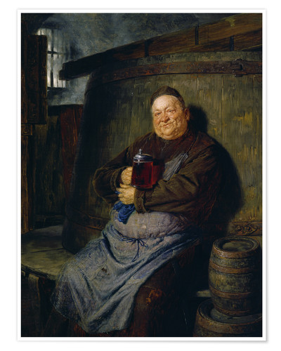 Premium poster Brother master brewer of beer in the cellar. In 1902.