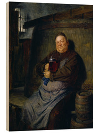 Wood print  Brother master brewer of beer in the cellar. In 1902. - Eduard Grützner