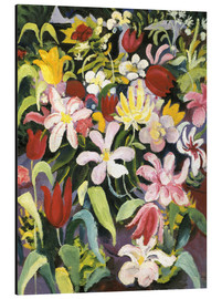Aluminium print  Carpet of flowers - August Macke