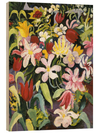 Wood  Carpet of flowers - August Macke