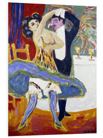 Foam board print  Variety (English dance couple) - Ernst Ludwig Kirchner