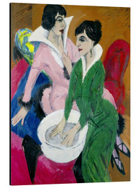 Aluminium print  Two women with washbasin, The sisters - Ernst Ludwig Kirchner