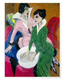 Premium poster Two women with sink (The Sisters)