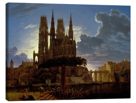 Canvas print  Cathedral over a city - Karl Friedrich Schinkel