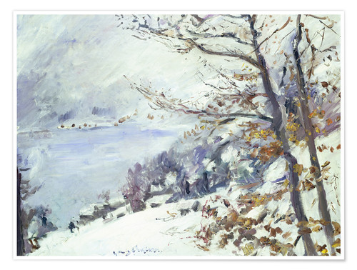Premium poster The Walchensee in winter