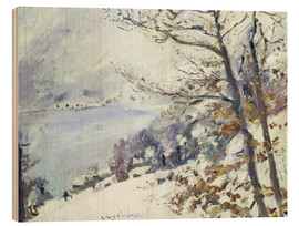 Wood  The Walchensee in winter - Lovis Corinth