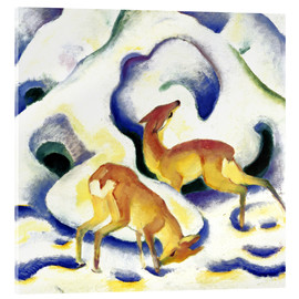 Acrylic print  Deer in the snow - Franz Marc