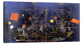 Canvas  The adventure ship - Paul Klee