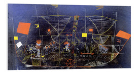 Foam board print  The adventure ship - Paul Klee