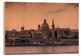 Wood print  MALTA 01 - Tom Uhlenberg