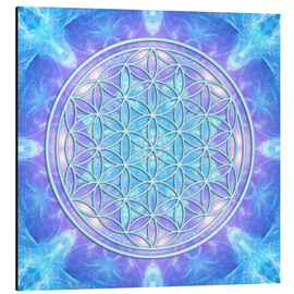 Aluminium print  Flower of Life - Dolphin Awareness - Dolphins DreamDesign