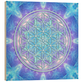 Wood print  Flower of Life - Dolphin Awareness - Dolphins DreamDesign