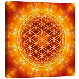 Canvas print  Flower of life - golden age - Dolphins DreamDesign