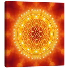 Canvas  Flower of Life - Golden LightEnergy - Dolphins DreamDesign