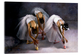 Acrylic glass  Three ballerina - Yoo Choong Yeul