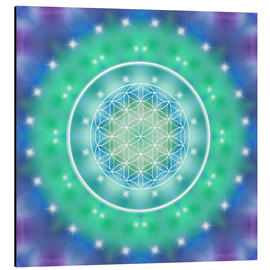 Aluminium print  Flower of Life - Relaxation - Dolphins DreamDesign