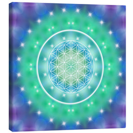 Canvas  Flower of Life - Relaxation - Dolphins DreamDesign