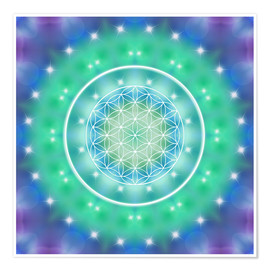 Premium poster Flower of Life - Relaxation