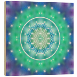 Wood  Flower of Life - Relaxation - Dolphins DreamDesign
