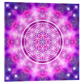 Acrylic glass  Flower of Life - Love Essence - Dolphins DreamDesign