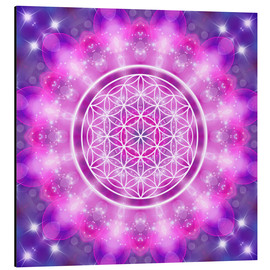 Alu-Dibond  Flower of Life - Love Essence - Dolphins DreamDesign