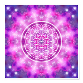 Premium poster Flower of Life - Love Essence