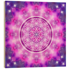 Wood  Flower of Life - Love Essence - Dolphins DreamDesign