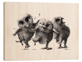 Stefan Kahlhammer - Three Crazy Owls