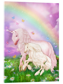 Acrylic print  Unicorn rainbow magic - Dolphins DreamDesign