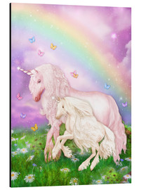 Aluminium print  Unicorn rainbow magic - Dolphins DreamDesign