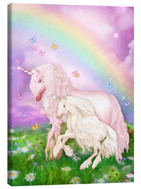 Canvas print  Unicorn rainbow magic - Dolphins DreamDesign