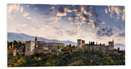 Foam board print  Alhambra in Granada - Michael Rucker
