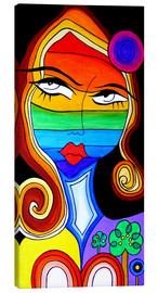 Canvas print  Rainbow Woman - Jenny Grice