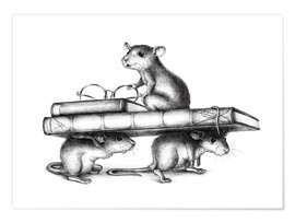Premium poster Three Rats (three avid readers)