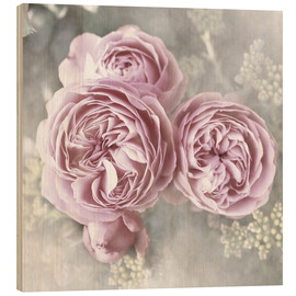Wood  Roses in shabby style - Christine Bässler