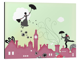 Alu-Dibond  Mary Poppins, London - Elisandra Sevenstar