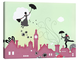 Canvas print  Mary Poppins, London - Elisandra Sevenstar