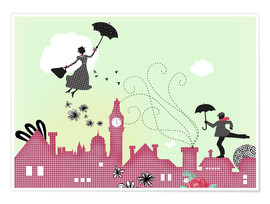 Poster  Mary Poppins London - Elisandra Sevenstar