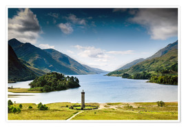 Premium poster Scotland - Glenfinnan at Loch Shiel