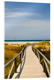Acrylic print  walk to the beach - gn fotografie