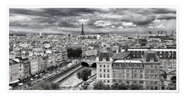 Premium poster View of Paris