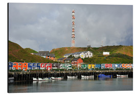 Aluminium print  Colorful crab shacks Helgoland - FineArt Panorama