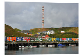 Foam board print  Colorful crab shacks Helgoland - FineArt Panorama