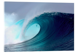 Acrylic print  Tropical blue surfing wave - Paul Kennedy